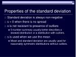 properties of the standard deviation