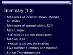 summary 1 2
