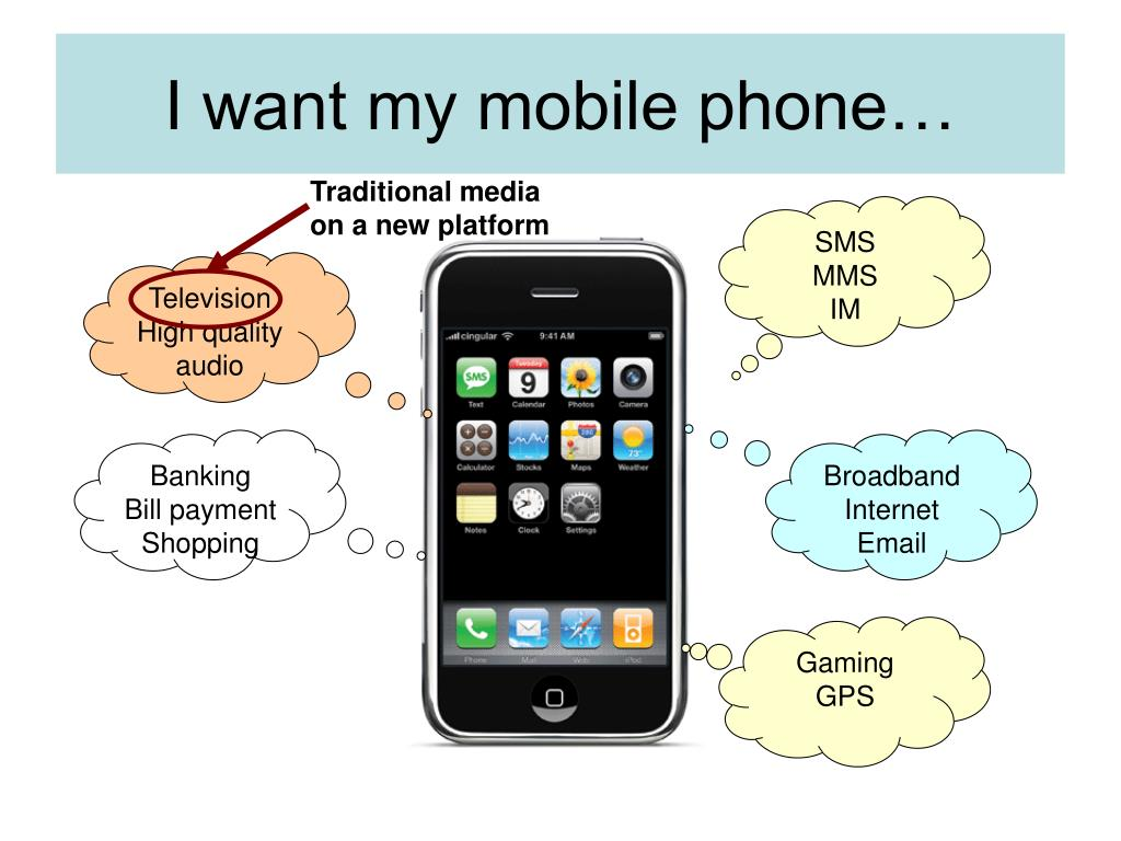 I want my mobile phone…