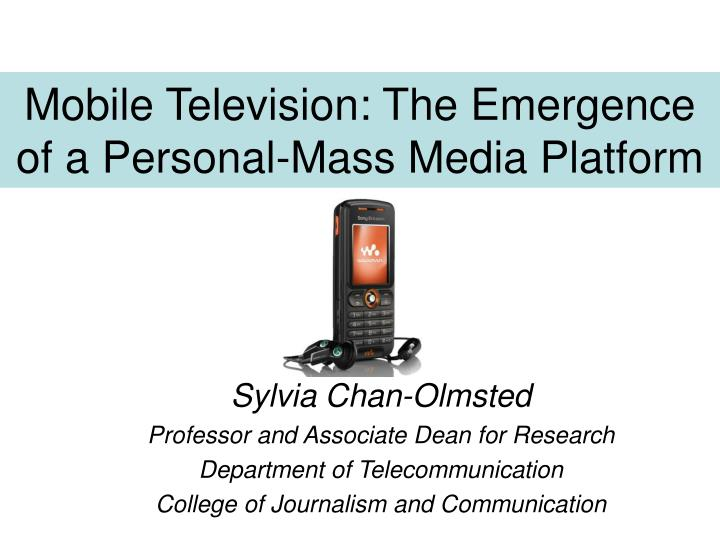Mobile television the emergence of a personal mass media platform