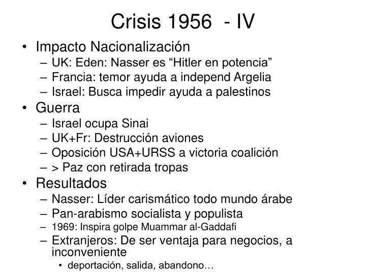 Crisis 1956  - IV