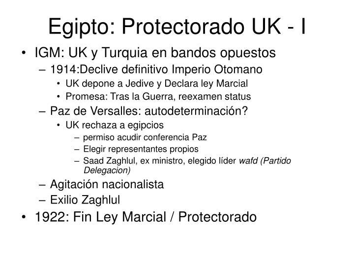 Egipto: Protectorado UK - I