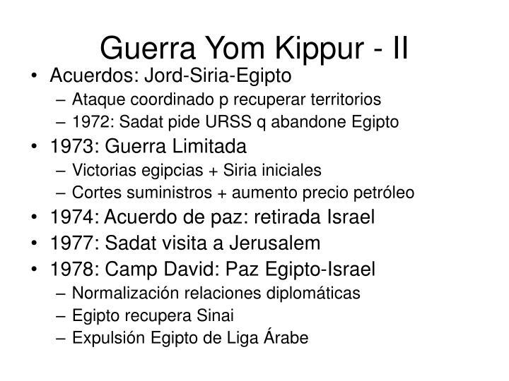 Guerra Yom Kippur - II