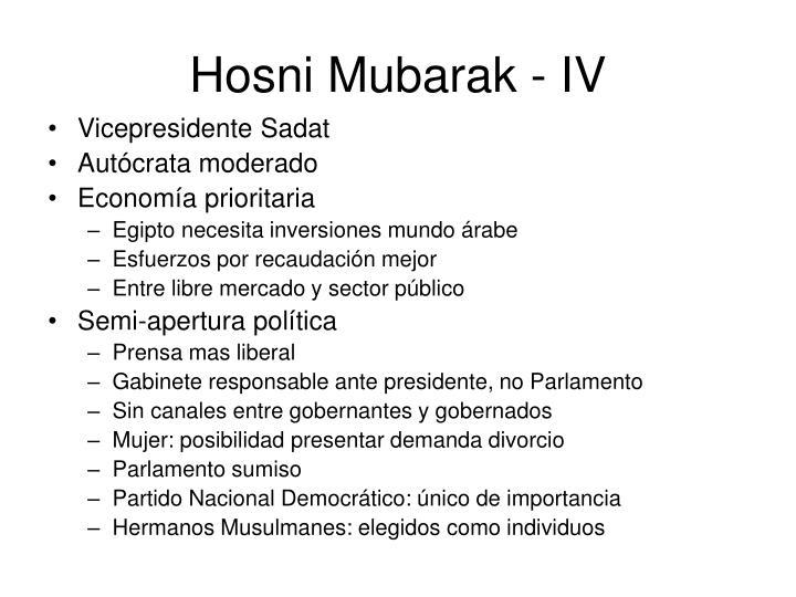Hosni Mubarak - IV
