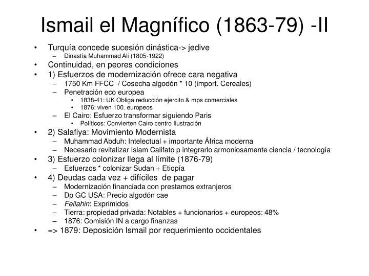 Ismail el Magnífico (1863-79) -II
