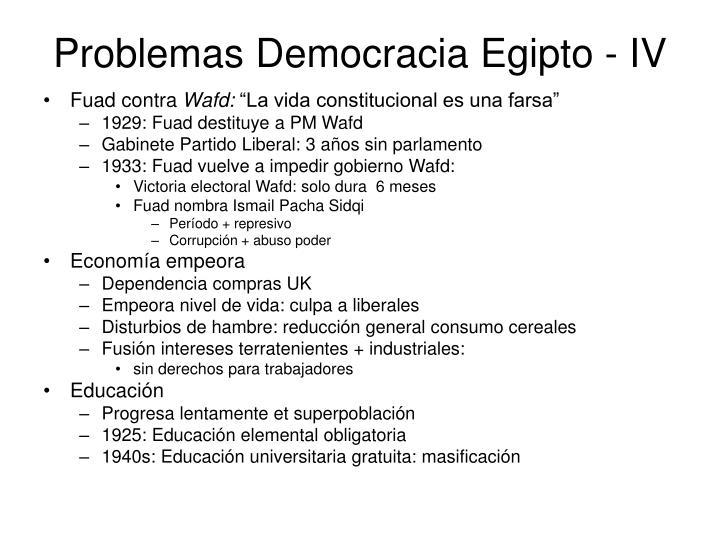 Problemas Democracia Egipto - IV