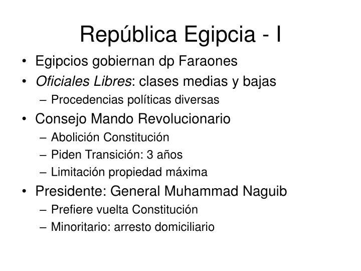 República Egipcia - I