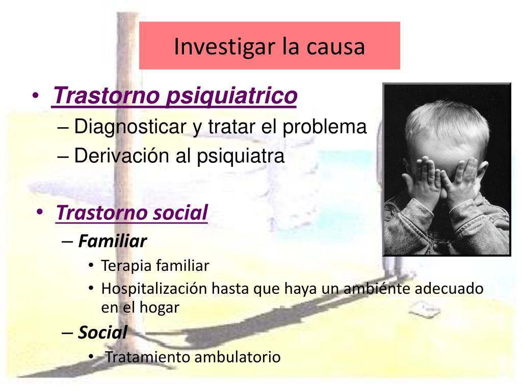 Investigar la causa