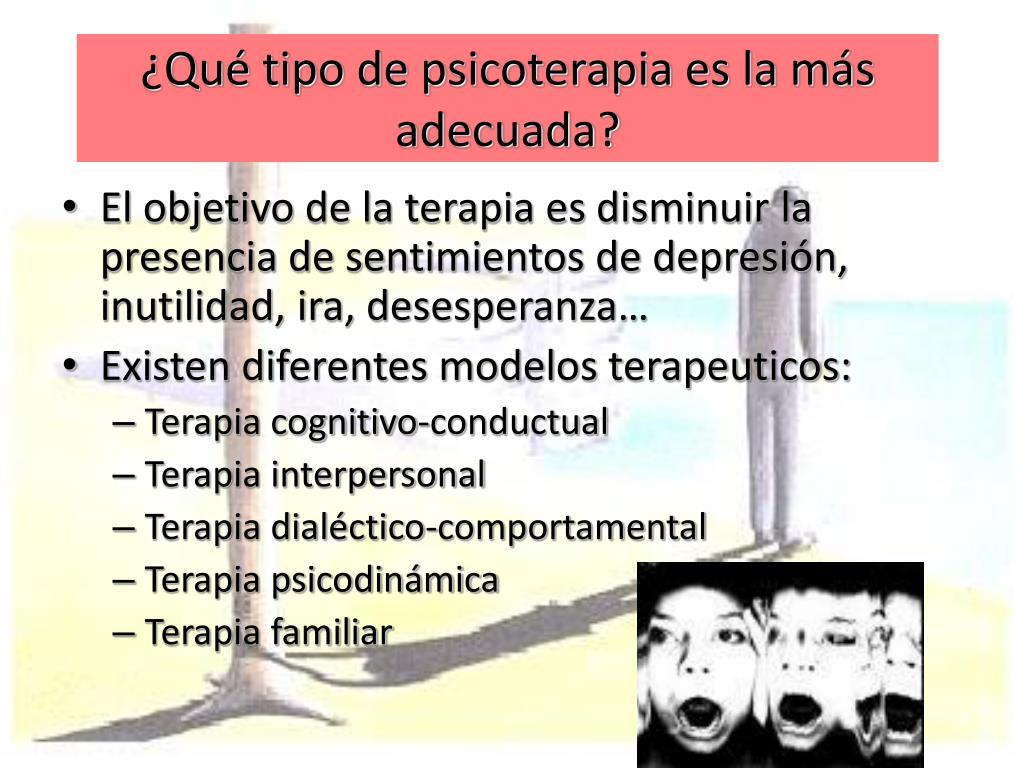 ¿Qué tipo de psicoterapia es la más adecuada?