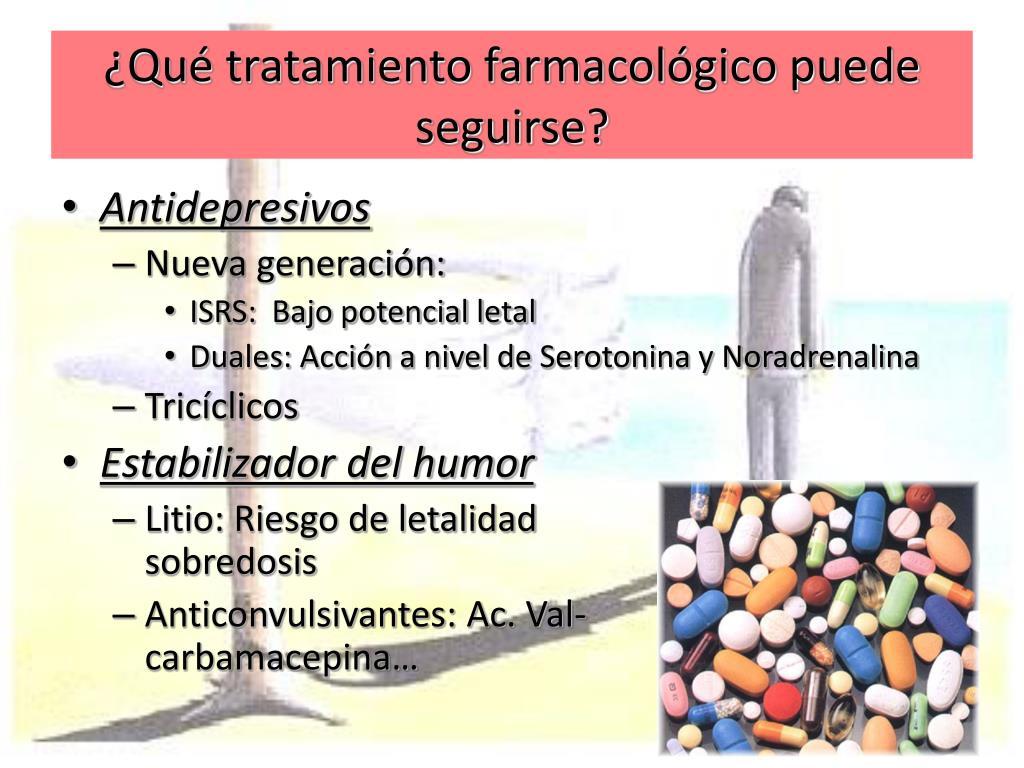 ¿Qué tratamiento farmacológico puede seguirse?