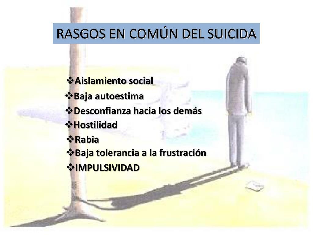 RASGOS EN COMÚN DEL SUICIDA