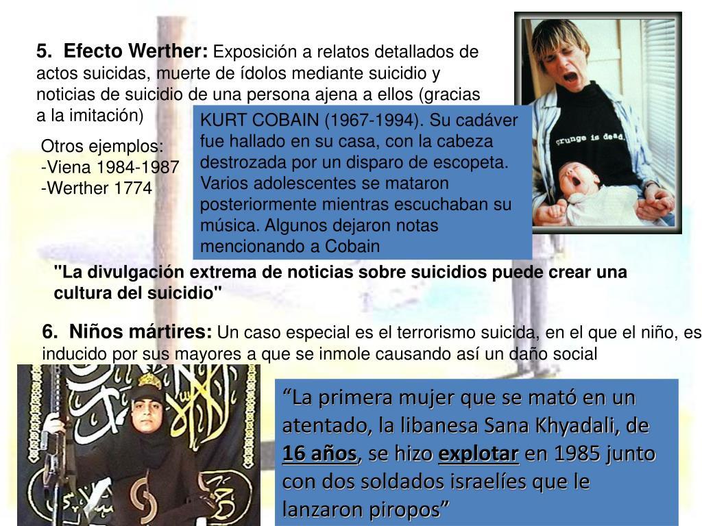 5.  Efecto Werther: