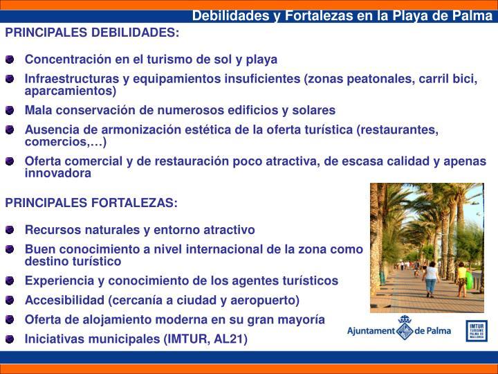 Debilidades y Fortalezas en la Playa de Palma