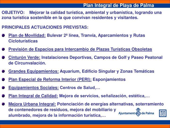 Plan Integral de Playa de Palma