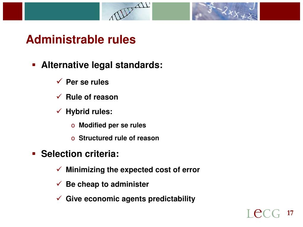 Administrable rules