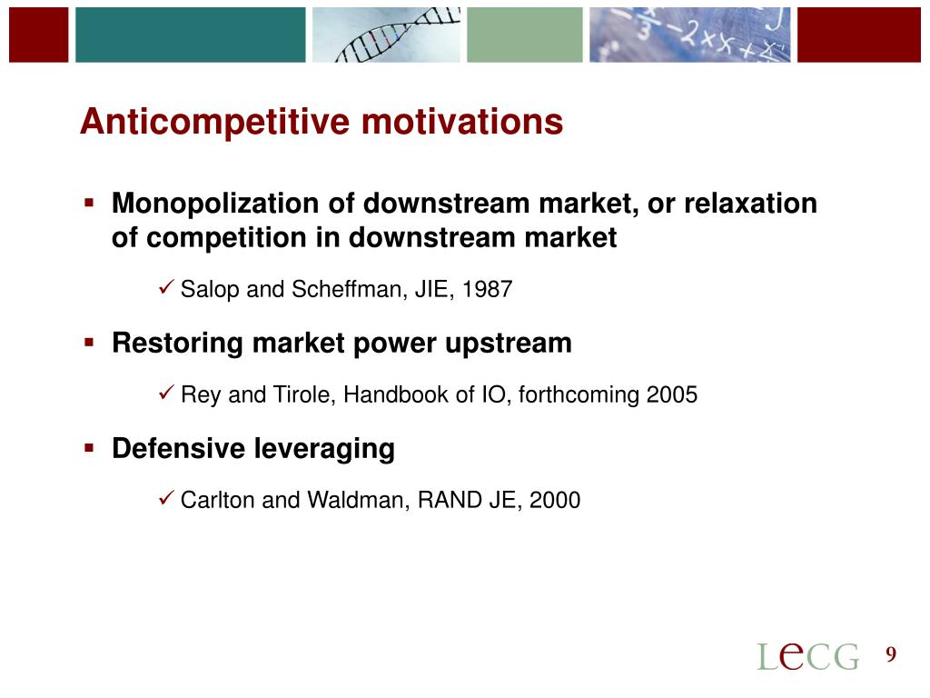 Anticompetitive motivations