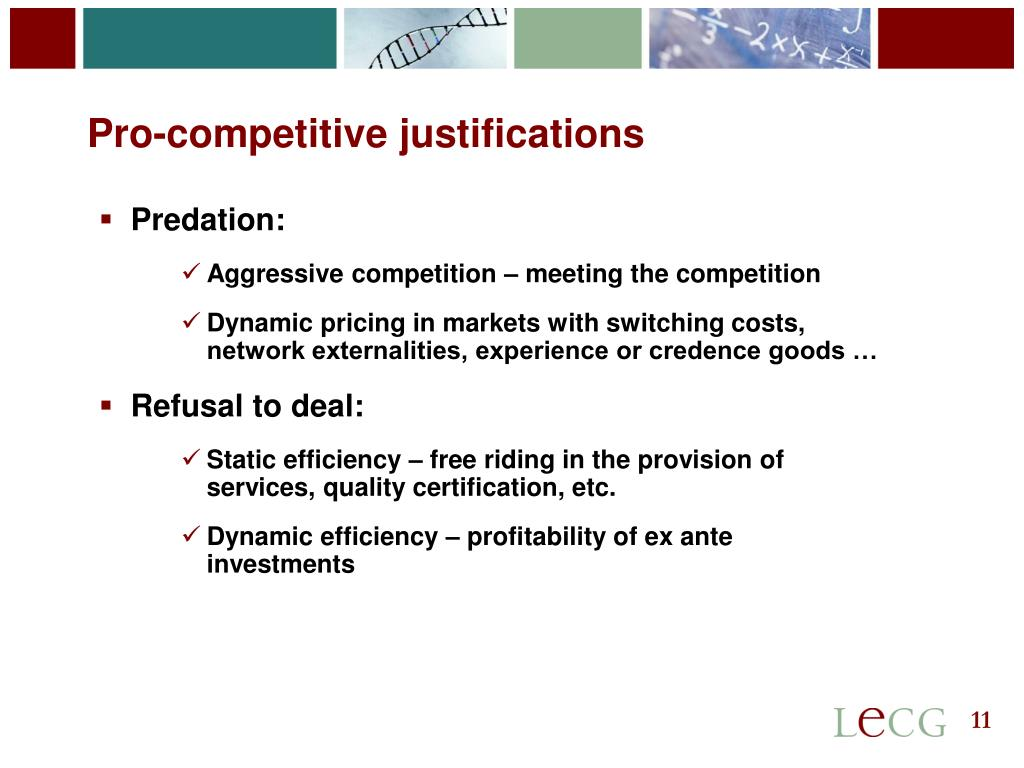 Pro-competitive justifications