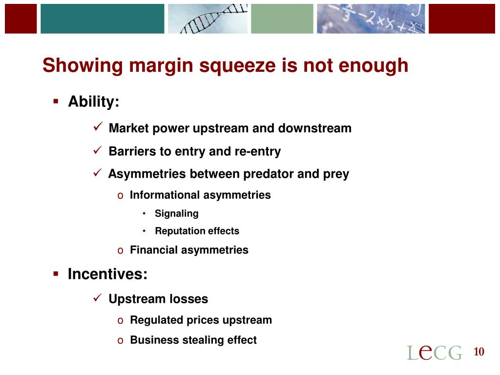 Showing margin squeeze is not enough