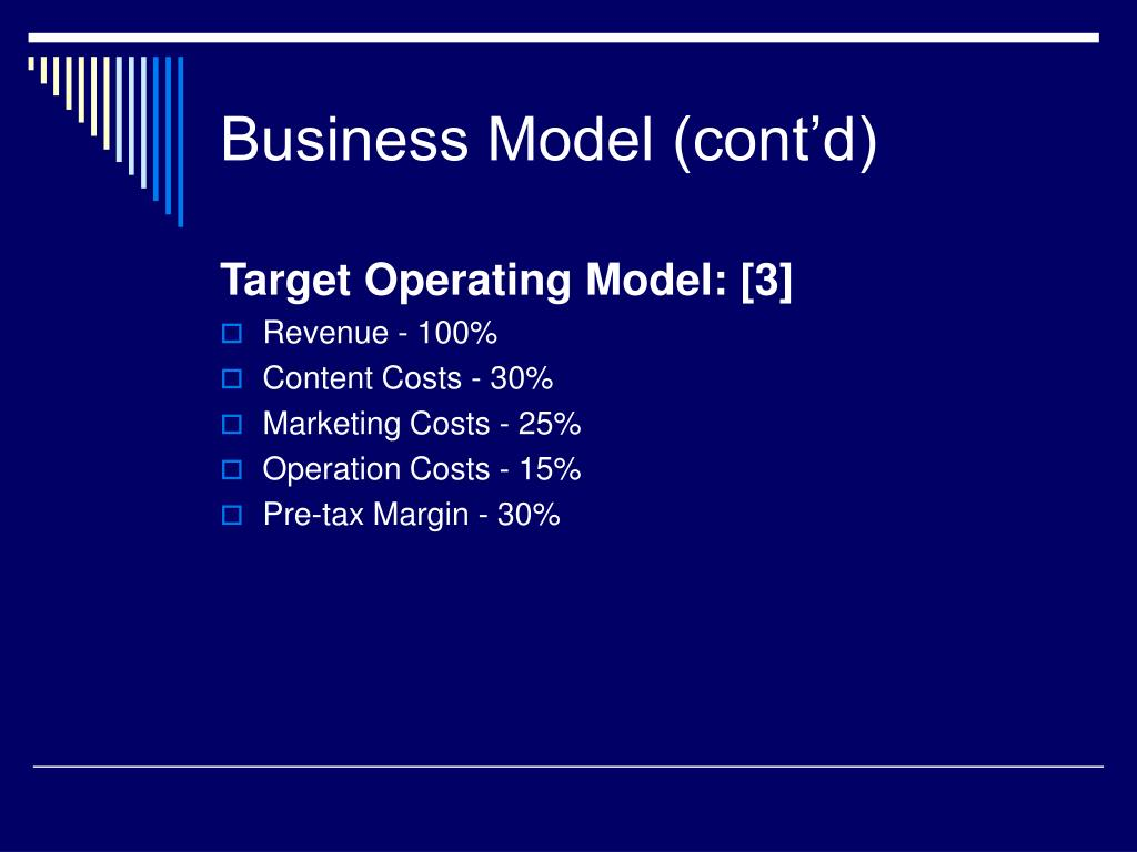 Business Model (cont'd)