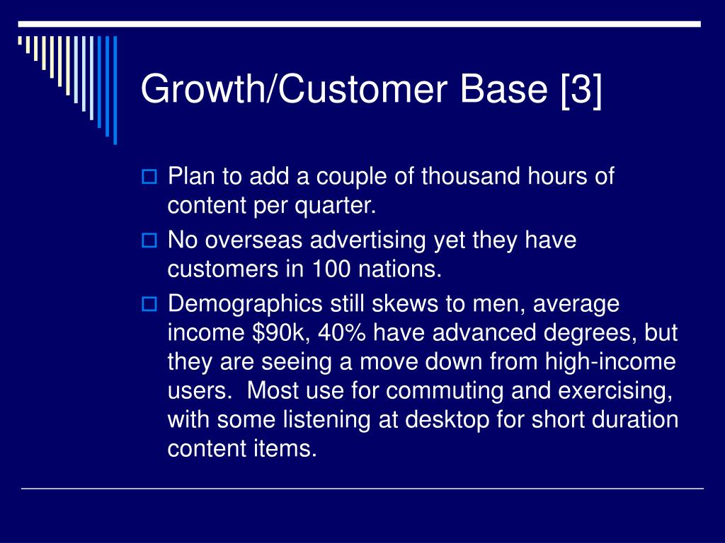 Growth/Customer Base [3]