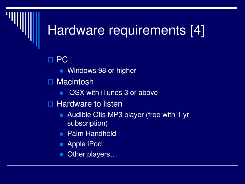 Hardware requirements [4]