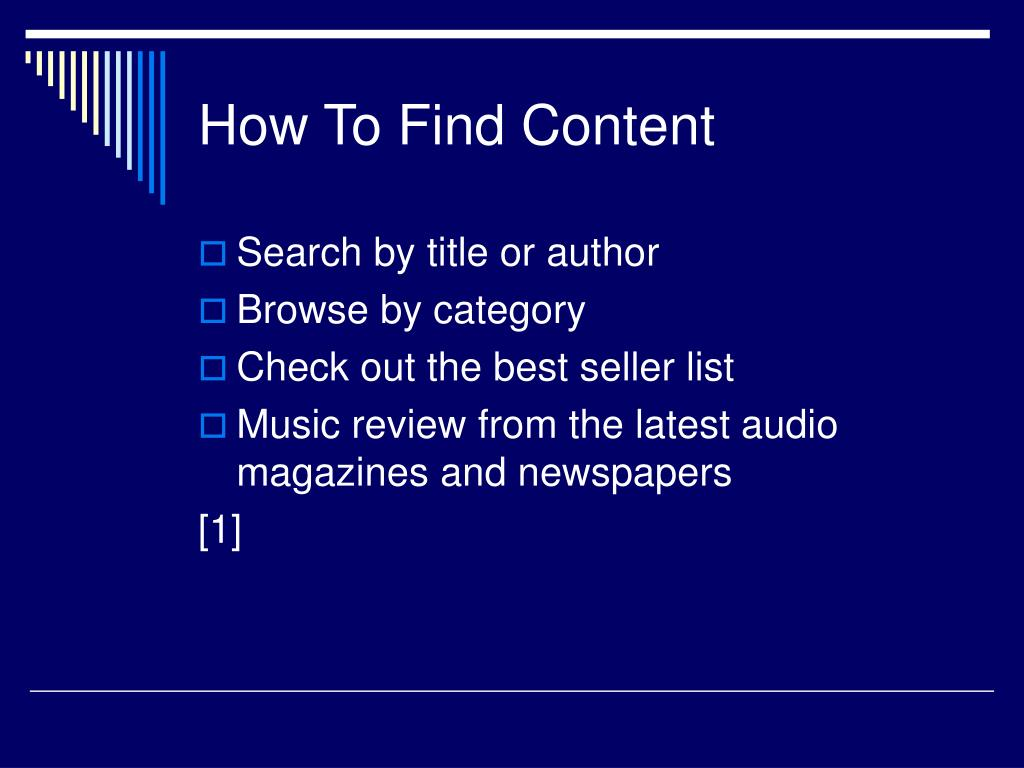 How To Find Content