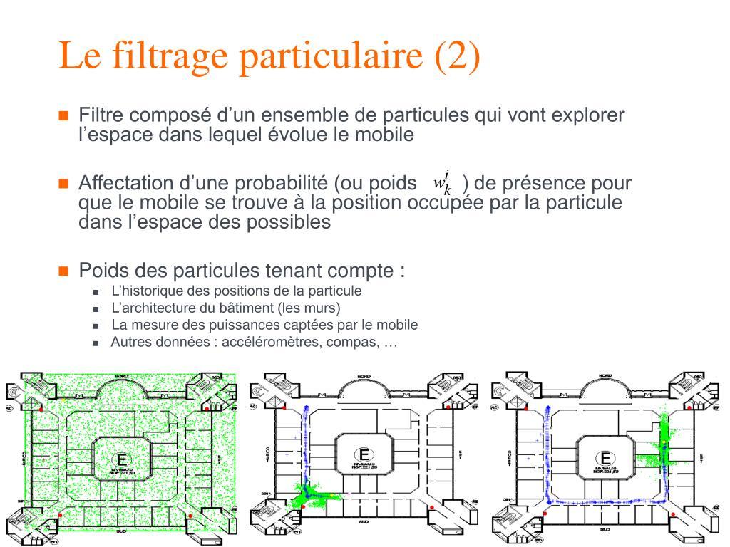 Le filtrage particulaire (2)