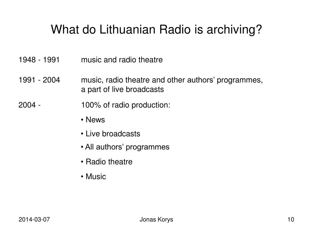 What do Lithuanian Radio
