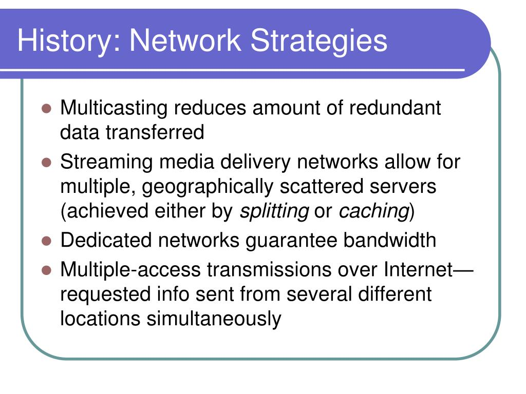 History: Network Strategies
