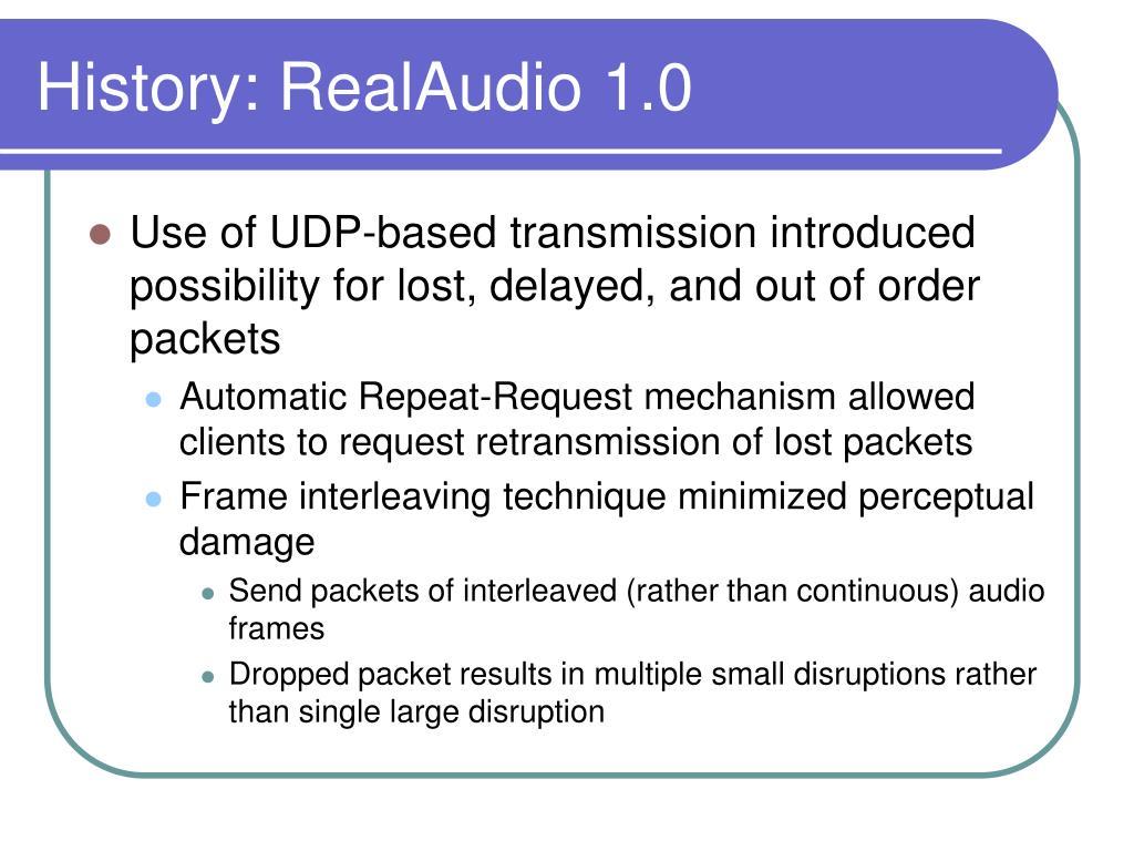 History: RealAudio 1.0