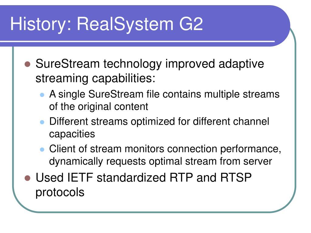 History: RealSystem G2