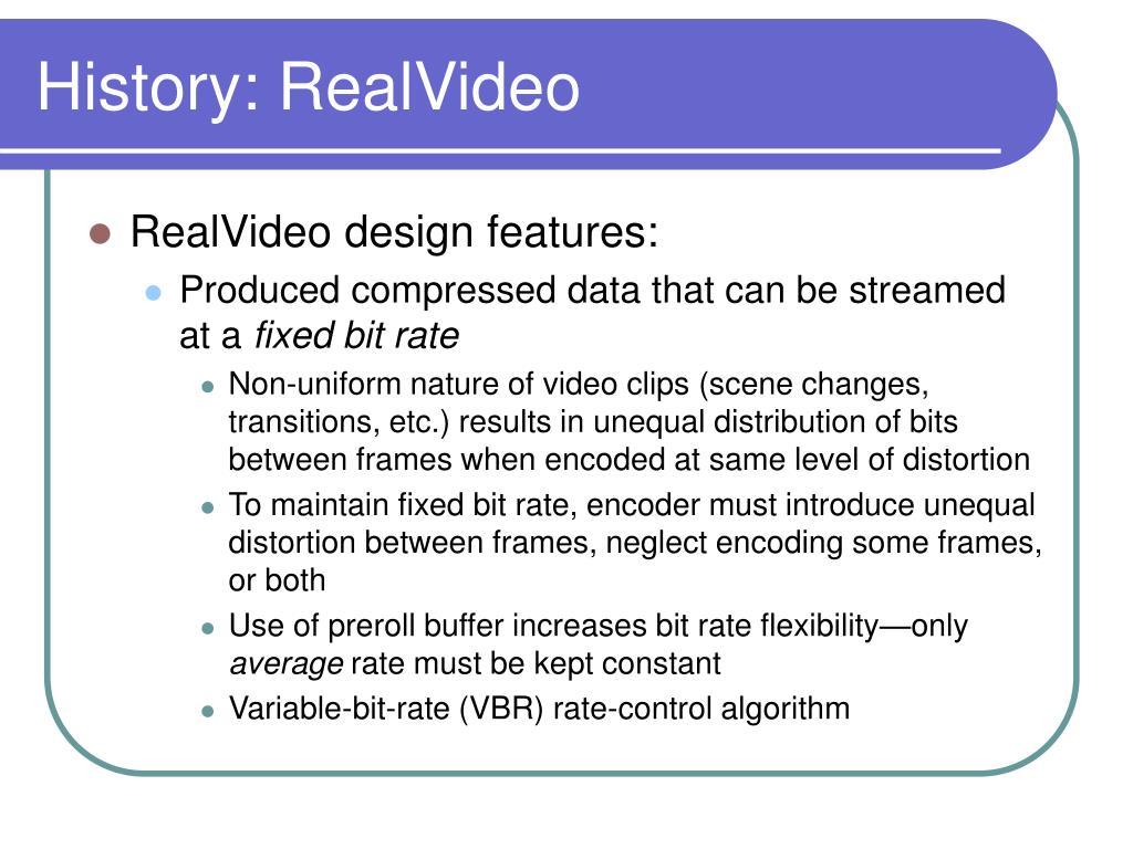 History: RealVideo