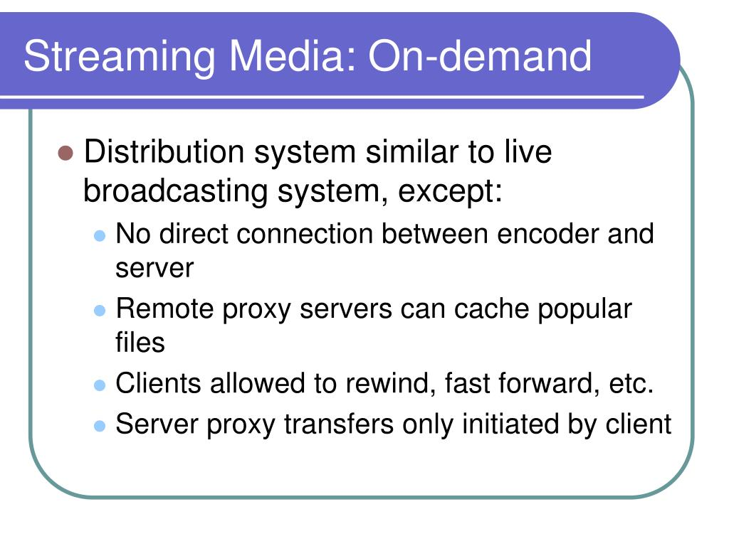 Streaming Media: On-demand