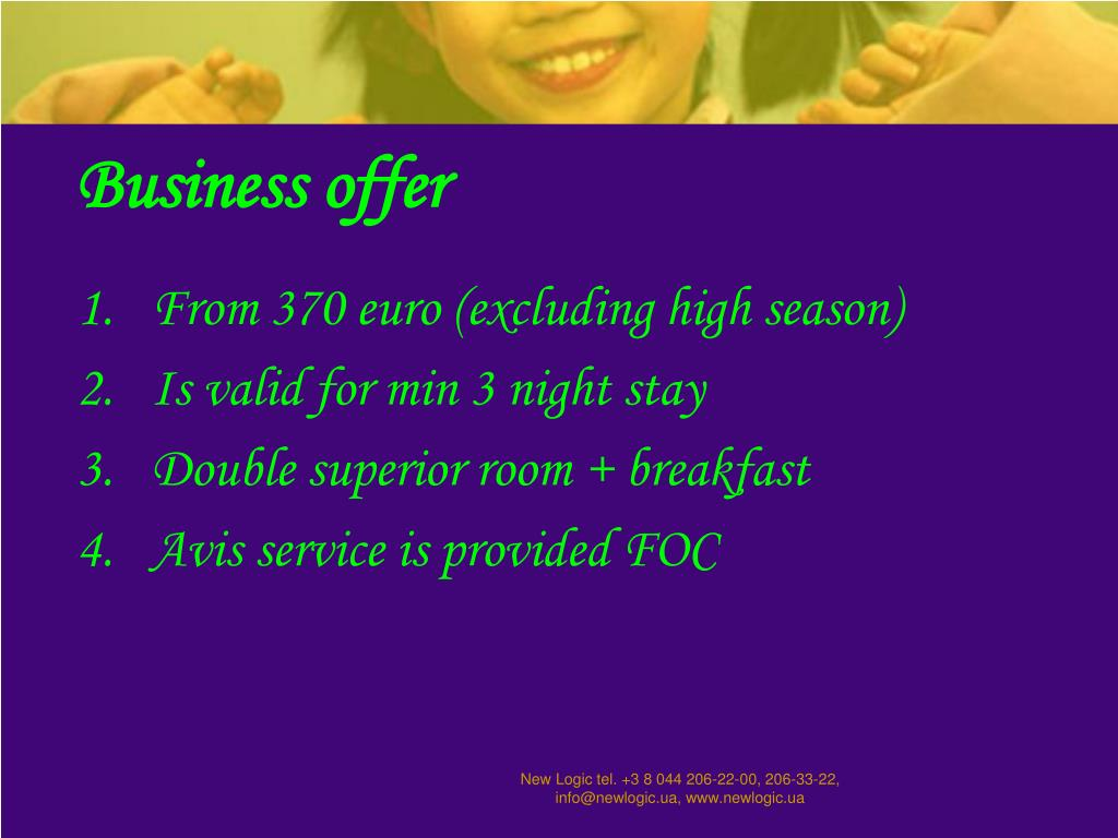 Business offer