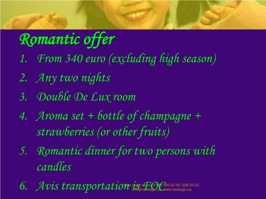 Romantic offer