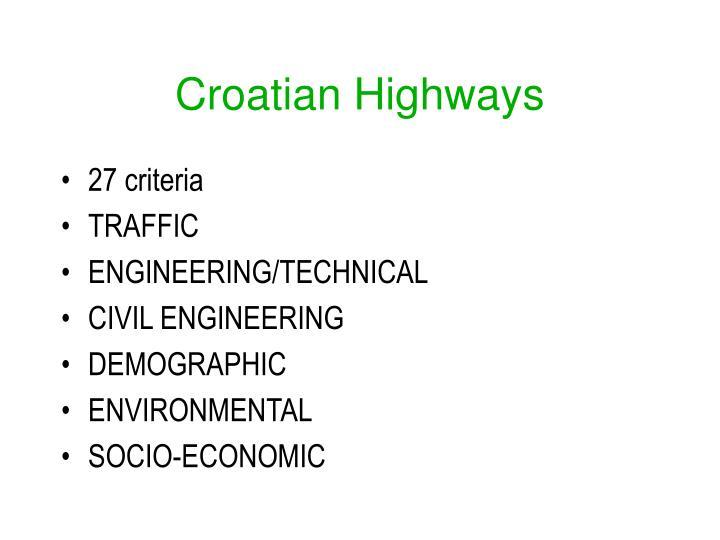Croatian Highways