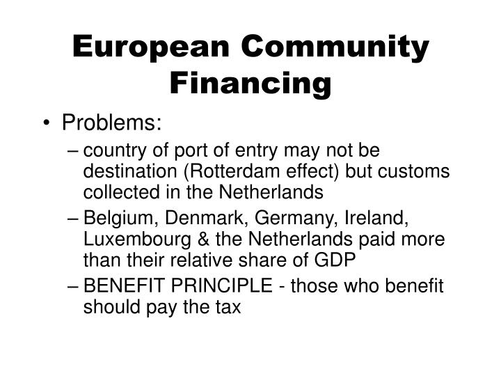 European Community Financing