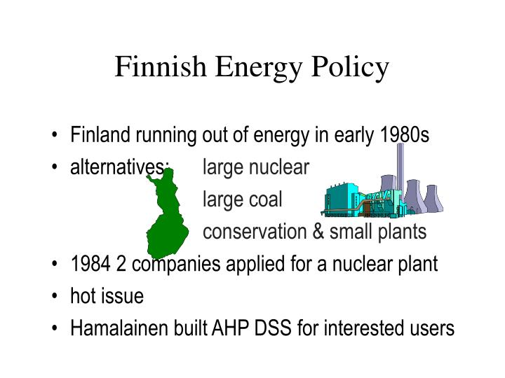 Finnish Energy Policy