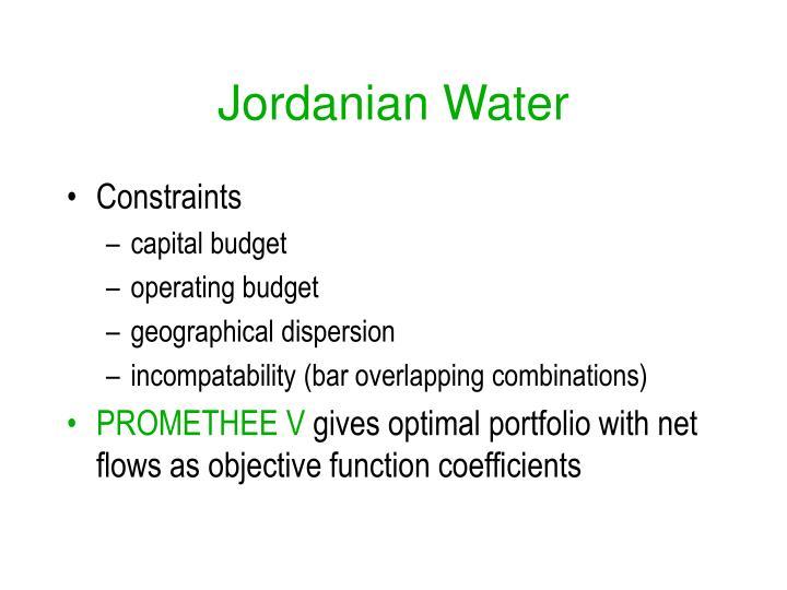 Jordanian Water