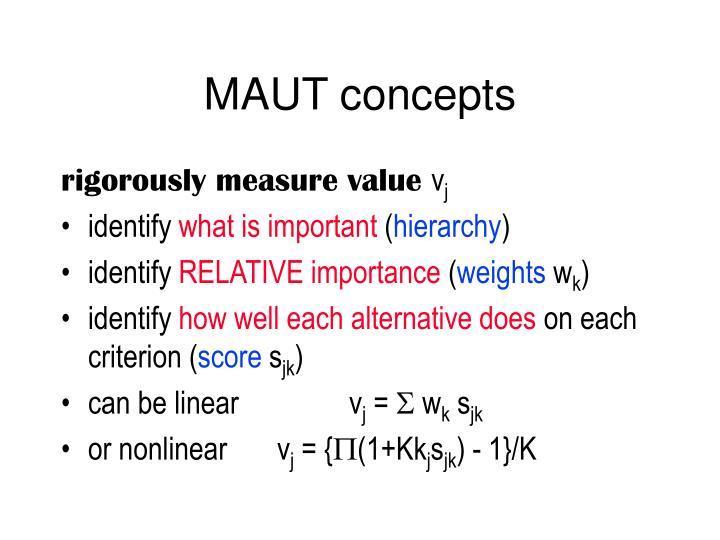 MAUT concepts