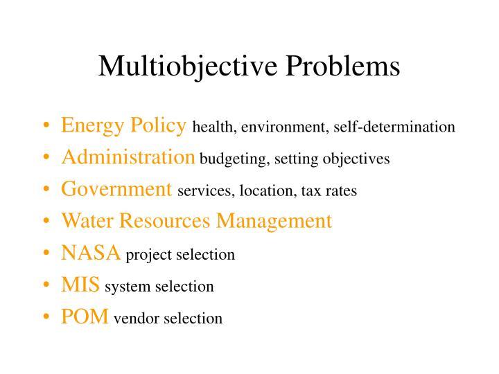 Multiobjective Problems