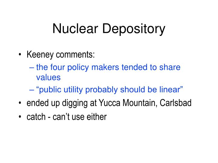 Nuclear Depository