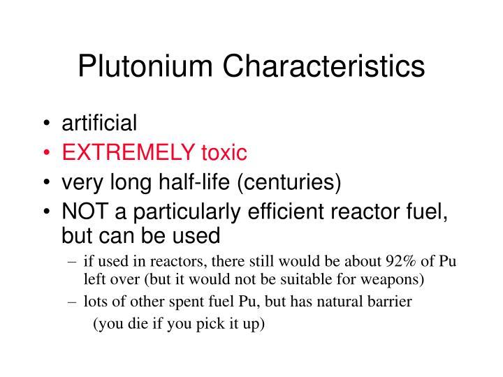 Plutonium Characteristics