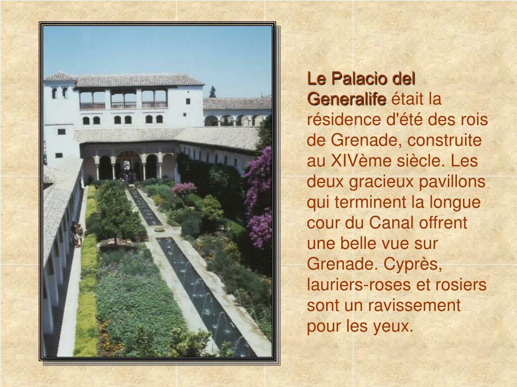 Le Palacio del Generalife