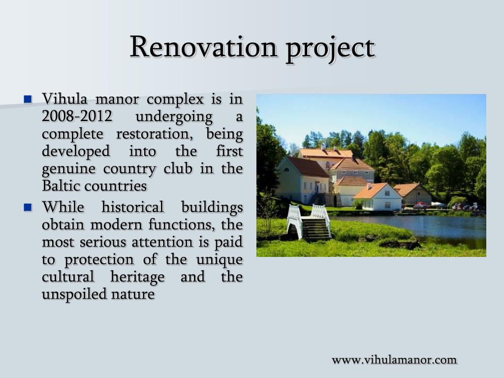 Renovation project