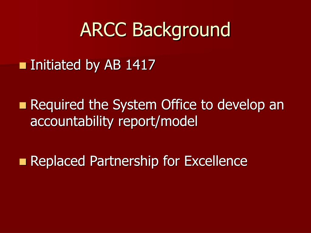 ARCC Background