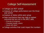 college self assessment