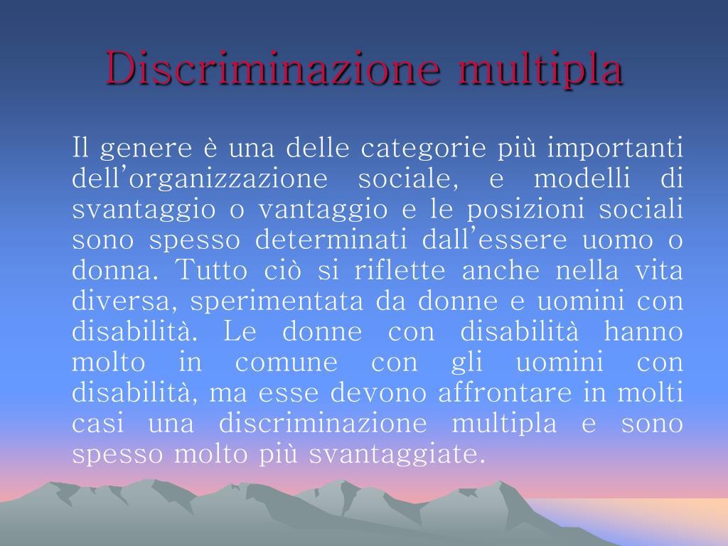 Discriminazione multipla