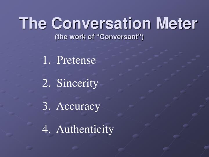 The Conversation Meter