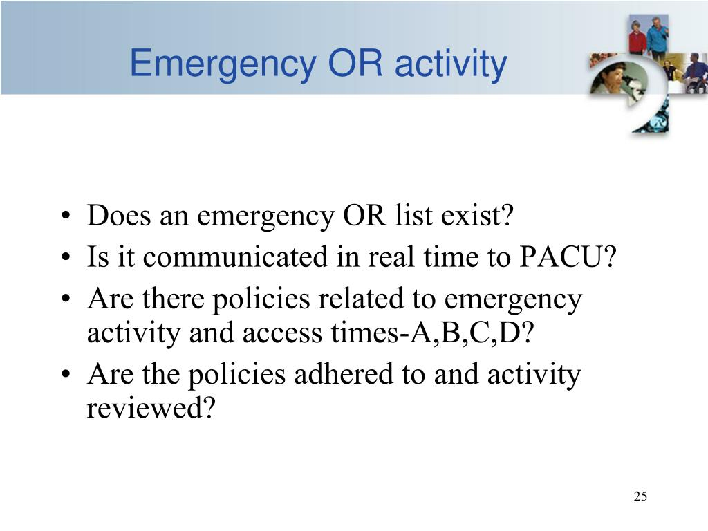 Emergency OR activity